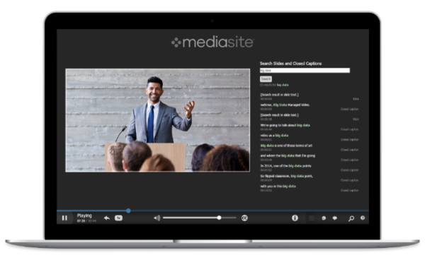 Sonic Foundry Announces Speech-to-Text Integration in Mediasite to Create More Searchable, Accessible Videos
